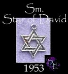 Sterling Silver Star of David Charm, Small Jewish Star of David Necklace