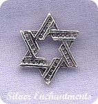Sterling Silver Star of David Pendant with Hidden Bail, Jewish Magen Star
