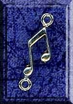 Sterling Silver Music Note Jewelry Connector Finding, Musician Jewelry Supply