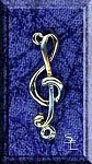 Sterling Silver Treble Clef Jewelry Connector, Musician Jewelry Findings (1)