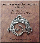 Sterling Silver Gecko Charms