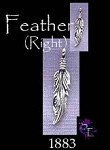 Sterling Silver Beader Bailed Feather Charm