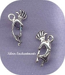 Kokopelli Charm - Southwestern Fertility God - Sterling Silver 3D Curved Kokopelli Charm