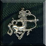Sterling Silver Sagittarius Pendant with Hidden Bail