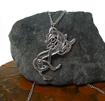 Sterling Silver Celtic Greyhound Necklace, Celtic Necklace, Greyhound Jewelry