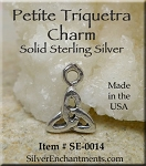 Sterling Silver Small Triquetra Necklace, Celtic Charm Necklace
