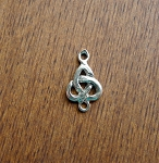 Sterling Silver Triquetra Jewelry Connector, Celtic Jewelry Finding
