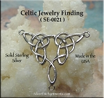 Sterling Silver Celtic Y Necklace Connector, Celtic Necklace Centerpiece Connector Finding