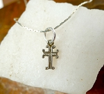 Sterling Silver Small Cross Charm, Christian Cross Necklace