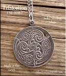 Sterling Silver Celtic Triskelion Pendant, Celtic Spiral Jewelry