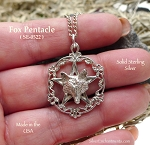 Sterling Silver Victorian Fox Pentacle Pendant