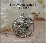 Sterling Silver Fire Dragon Pentacle