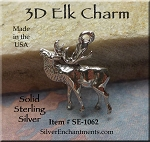 Sterling Silver Elk Charms