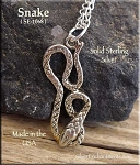 Sterling Silver Snake Charms