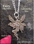 Sterling Silver Victorian Fairy Charm, Fairy Jewelry