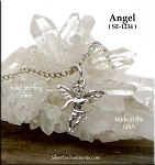 Sterling Silver Boy Angel Charm, 3-Dimensional Angel Jewelry
