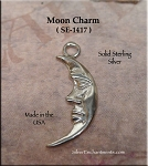 Sterling Silver Moon Charm, Crescent Moon Jewelry
