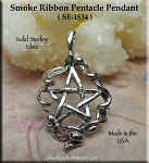 Sterling Silver Bailed Ribbon Pentacle Pendant