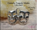 Sterling Silver Drama Mask Charms