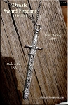 Sterling Silver Large BROADSWORD with Decorated Sheath Pendant, SCA LARP Sword Necklace Jewelry