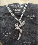 Sterling Silver Tinkerbell Fairy Charm - Fairy Necklace - Silver Fairy Jewelry