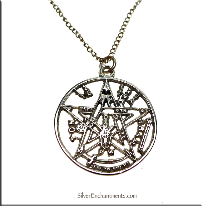 Sterling silver tetragrammaton pendant or necklace jewish mysticism sterling silver tetragrammaton pendant mozeypictures Gallery