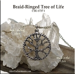 Sterling Silver Ringed Tree of Life Pendant, Tree of Life Necklace