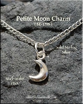 Sterling Silver Small Crescent Moon Charm, 3D 11x6mm Celestial Moon Jewelry