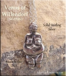 Sterling Silver Venus of Willendorf Pendant