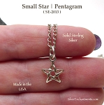 Sterling Silver Star Charm, Pentagram Jewelry