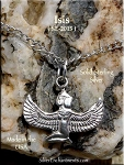 Sterling Silver Isis Charm, Egyptian Goddess Jewelry