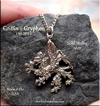 Sterling Silver Gryphon Pendant, Griffin Jewelry