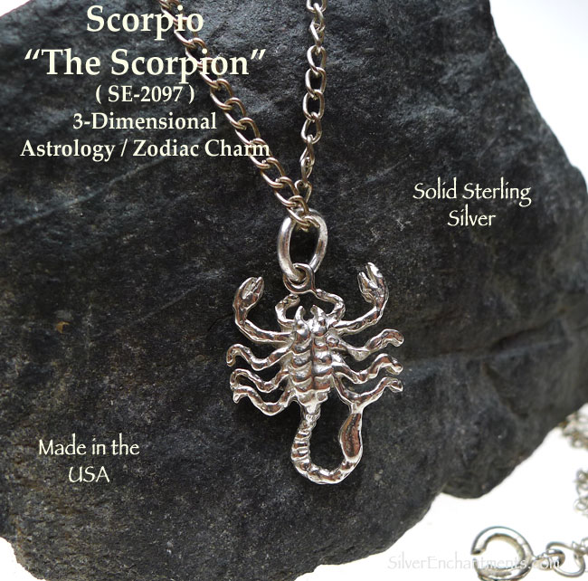 Sterling silver scorpio charm scorpion astrology zodiac jewelry sterling silver scorpio charm scorpio astrology zodiac jewelry the scorpion aloadofball Images