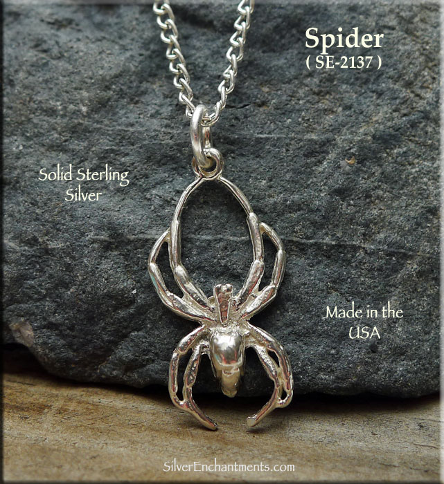 Sterling silver black widow spider pendant spider necklace spider sterling silver black widow spider pendant spider necklace spider jewelry aloadofball Image collections