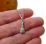 Sterling Silver Nail Polish Charm, Nail Polish Bottle Jewelry