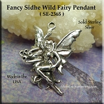 Sterling Silver Sidhe Wild Fairy Charm Pendant