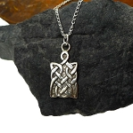 Sterling Silver Celtic Pendant, Celtic Shield Jewelry