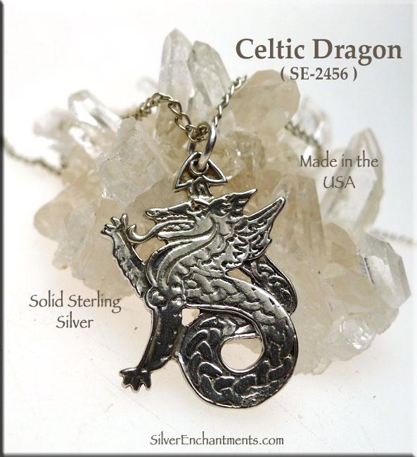 Sterling silver celtic dragon pendant celtic dragon necklace sterling silver celtic dragon pendant celtic dragon necklace dragon jewelry aloadofball Choice Image