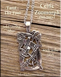 Sterling Silver Bailed Celtic Man Necklace Pendant, The Fool Tarot Necklace, Celtic Jewelry