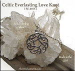 Sterling Silver Celtic Love Knot Charm-Pendant Necklace