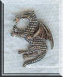 Sterling Silver Fire Dragon Pendant with Hidden Bail in Back