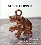 Solid COPPER 3D Naughty Bears Pendant