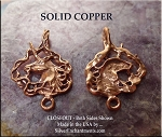 Solid COPPER Unicorn Dangler Pendant - CLOSEOUT