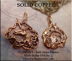 Solid COPPER Unicorn Pendant - CLOSEOUT