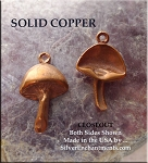 Solid COPPER Mushroom Charm - CLOSEOUT