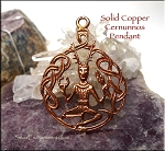 Copper Celtic Cernunnos Horned God Pendant, Raw Copper Casting, CLOSEOUT