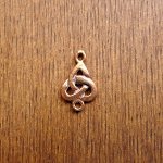 Solid COPPER Triquetra Jewelry Connector, Celtic Jewelry Supply