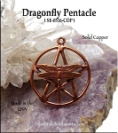 Solid COPPER Dragonfly Pentacle Pendant - CLOSEOUT