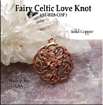 Solid COPPER Celtic Fairy Charm-Pendant - CLOSEOUT