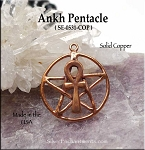Solid COPPER Ankh Pentacle Pendant - CLOSEOUT